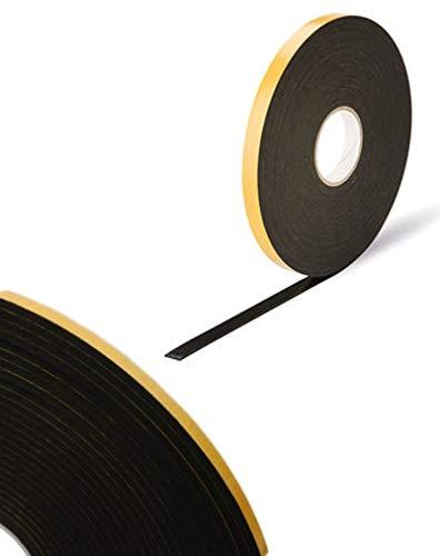 Doppelseitiges Schaumstoffklebeband, 4 mm x 10 mm x 15m, Schwarz