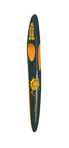 Preisvergleich Produktbild Herlitz 11291994 Tintenroller my.pen, Smiley, Limited Edition, schwarz/orange