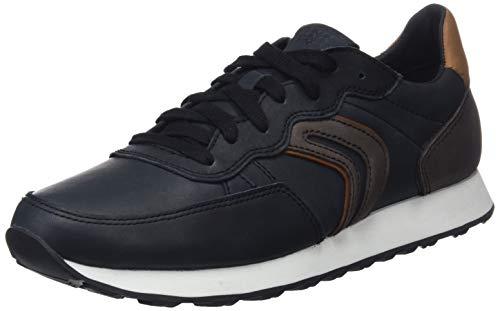 Geox Herren U Vincit C Sneaker, Schwarz (Black/Coffee C0630), 42 EU