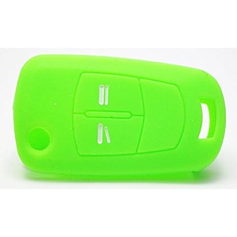 Opel Llavero de Coche 2Botones del Control Remoto Key Case/Carcasa Protectora, llaves, Verde