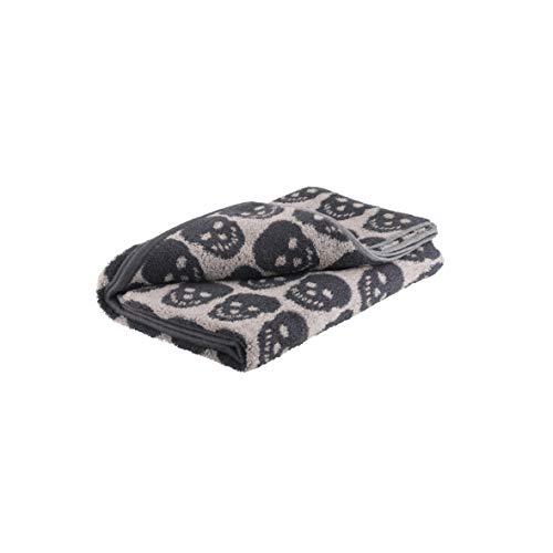 axentia - Toalla de Manos, diseño de Calavera, Color Blanco y Negro, Algodón, Negro-Blanco, 50 x 100 cm