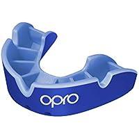 OPRO Protector Bucal Self-Fit Silver - para Rugby, Hockey, Lacrosse, fútbol Americano, Baloncesto y más - Fabricado en Reino Unido (Azul/Azul Claro, Adulto)