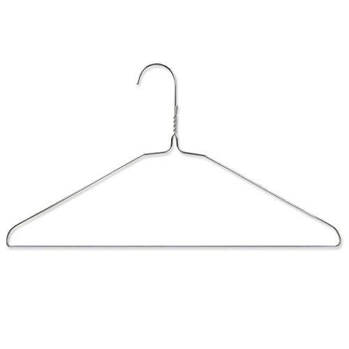 Hangerworld 200 Perchas 40cm de Metal Ahorra Espacio Tintorerías Ideal para Camisas y Pantalones