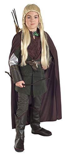 Legolas Kinder Kostüm aus Herr der Ringe, 4-teiliges Elben Kostüm für Jungen - (Herr Der Ringe Elben Kostüm Kinder)