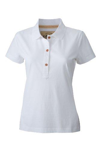 James & Nicholson Damen Poloshirt Ladies' Vintage White