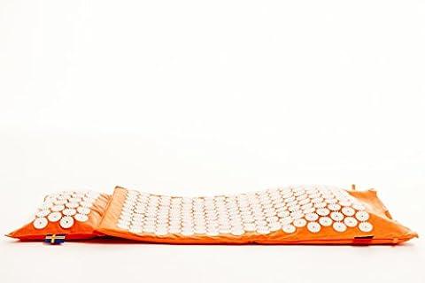 Mysa Super Booster : Le meilleur Tapis de fleurs. 100% ergonomique 100% chauffante 100% naturel. Tapis Champ fleurs + Coussin pour Acupression et