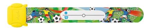 Sigel ID006 Kinder-Sicherheits-Armband zum Beschriften, Fußball, 19,7 cm lang