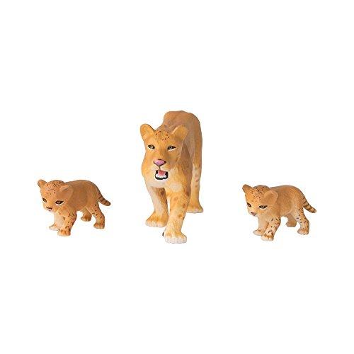 Tomy ANIA | Löwin mit Baby 3er - Spielset | Spielfigur mit beweglichen Gliedern | Hochwertiges Spielzeug für Kinder ab 3 Jahre | Tiere Spielzeug | Lernspielzeug - ideal als Geschenk