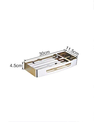 WALIZIWEI Dusche Badezimmer extrem Starke Fachregale Edelstahl Doppel Badewanne Layer Single Layer Regale Winkel dreieckige Warenkorb Hardware Anhänger Gewährleistung der Qualität (Farbe C, Größe: 1)
