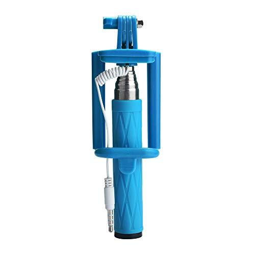 Fulltime E-Gadget Smartphone Stativ, Selfie Stick Ausziehbarer Hand-Selbst-Pole-Stativ Einbeinstativ-Stock für Smartphone (Blau)
