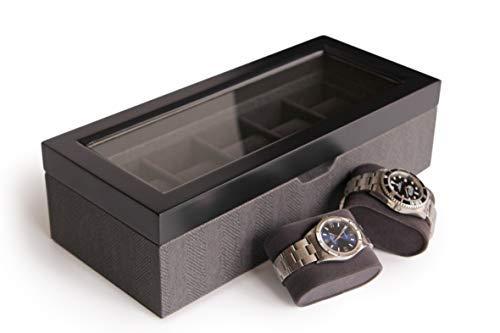 Estuche Organizador - Caja Relojes Dos Tonos Diseño