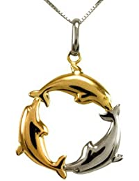 Voylla Sterling Silver Dolphin Pendant Without Chain