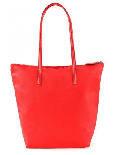 Lacoste Sac Femme L1212 Concept Vertical Borsa tote 39 cm Rosso