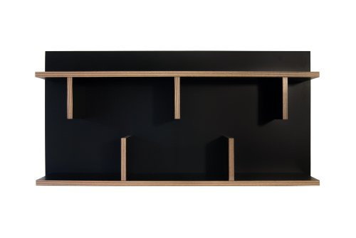 Temahome Bern 90 Wandregal, Holz, schwarz, 90 x 23 x 11 cm