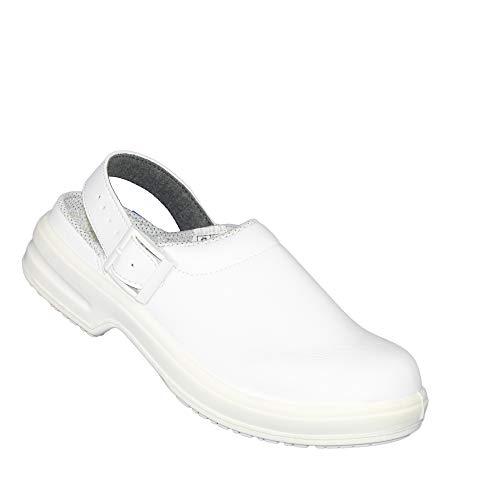 Jal Group Laborschuhe O1 SRC FO Pflegerschuhe Arztschuhe Sandale Weiß B-Ware, Größe:38 EU