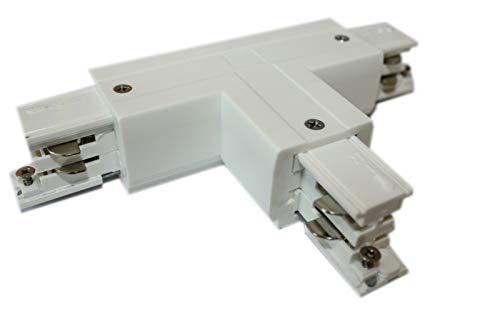 Rail d'alimentation en T à 3 phases gauche 1 Powergear noir blanc Weiß