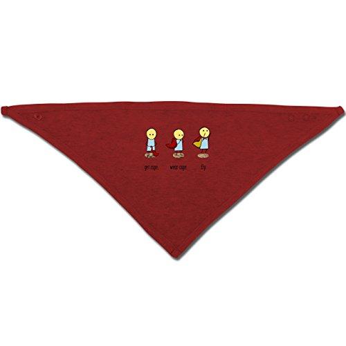 Up to Date Baby - Get cape. Wear cape. Fly. - Unisize - Rot - BZ23 - Baby-Halstuch als Geschenk-Idee für Mädchen und (Rotes Superhelden Cape)
