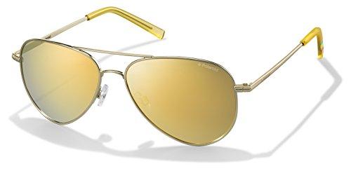 Polaroid Unisex-Erwachsene PLD 6012/N LM J5G 62 Sonnenbrille, Gold/Brown