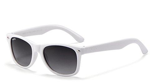 Miuno® Kinder Sonnenbrille Wayfare für Jungen und Mädchen Etui 2688 (Weiß)