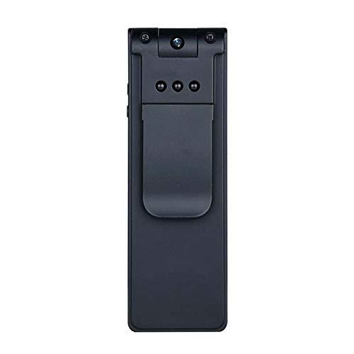 METTIME Mini-Kamera mit Tonbandgerät Vorlesung Versteckte Spion-Kamera mit Bildschirm Bewegung DV-Körper-Kamera-Kamera Tragbare Kamera mit Full HD Indoor/Outdoor-SD-Karte enthält Nicht (7 Windows Verwendet Disc)