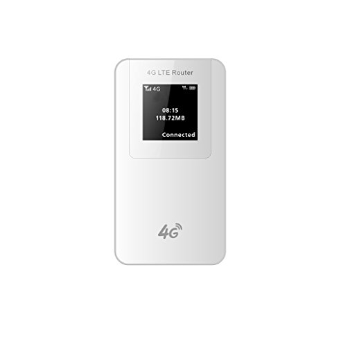 Easy-Link LTE 4G Mobile Router WiFi Router 150Mbps mit Power Bank 4600mAh, Unterstützung O2 / Vodafone / Telekom, 4G LTE Mobile Hotspot Wireless Wi-Fi Router WiFi Hotspot