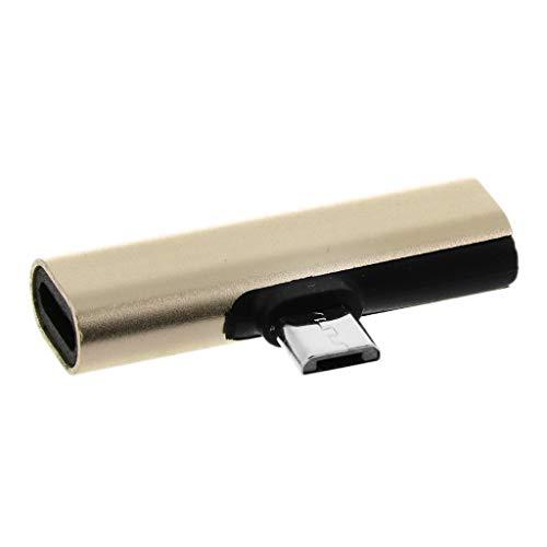 BULAGE 90 Grad 8pin Lightning + Typ C Buchse auf Micro USB Stecker Ladekonverter Anschluss Adapter für Android Handy Tablet -