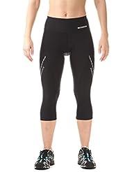 Nordblanc Mujer 3/4bicicleta pantalones con asiento acolchado Firm, primavera/verano, mujer, color Negro - negro, tamaño 44 [DE 42]