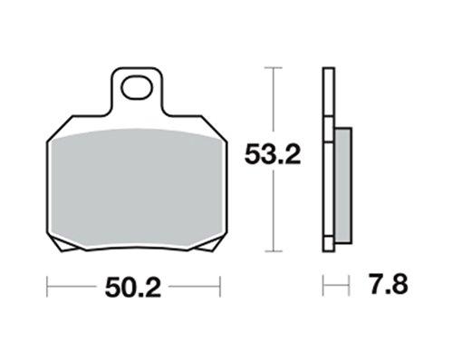 Pastiglie dei freni TRW MCB700SRM per Ducati 1098 R, S H7 07- (dietro)