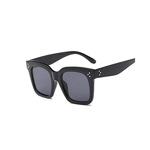 WJFDSGYG Flat Top Oversize Sonnenbrille Damen Designer Shield Shape Sonnenbrille Für Damen Damen Uv400 Rivet