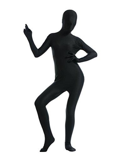 CHENGYANG Herren Second Skin Suit Original Unitard Fancy Kleid Lycra Für Halloween Schwarz XL