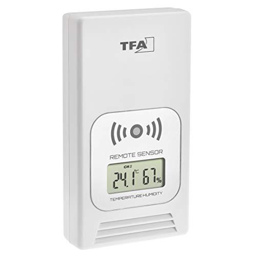 TFA Dostmann - Emisor de Temperatura con Pantalla para estación meteorológica Life 35.1153, Color...