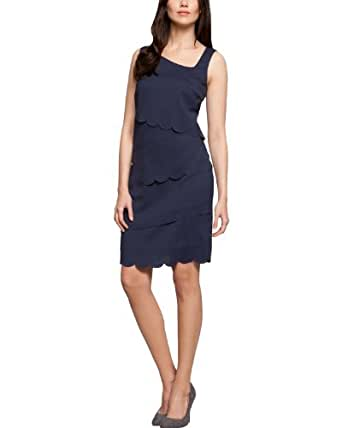 Comma Damen Kleid (mini) Regular Fit 89.402.82.2774 KLEID KURZ, Gr. 40, Blau (5839 light indigo)