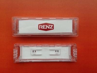 Preisvergleich Produktbild RENZ Namensschild 92 glasklar 75x22mm RENZ Nummer 97-9-82016