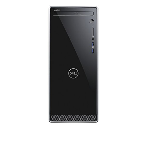 Dell Inspiron 3670 Desktop PC (Intel Core i3-8100, 1024GB Festplatte, 8GB RAM, Intel UHD Graphics 630, Win 10 Home) Schwarz mit Silber Trim (Inspiron Dell Desktop-computer)