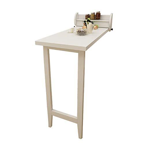 Piano Di Lavoro Cucina Pieghevole.Yhdd Tavolo Da Pranzo Tavolo Da Studio Tavolo Da Lavoro Piano Pieghevole Bianco E Gambe In Legno Massello Bianco