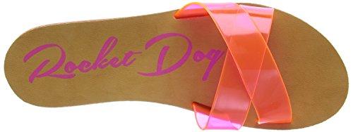 Rocket Dog Pascal Damen Zehentrenner Pink (Pvc)