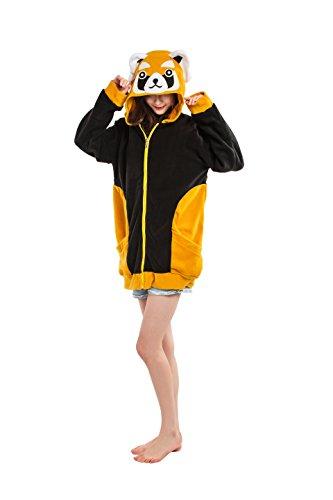 Magicmode Womens Cartoon Tiere Cosplay Kostüme Zipper Hoodies Taschendiebe Jacke Anime Sweatshirt Manat XL (Womens Cartoon Kostüme)