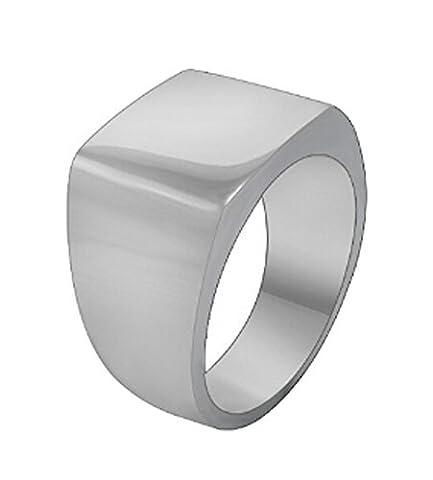 SaySure- Men Ring Never Fade Black Silver Color (SIZE : 9)
