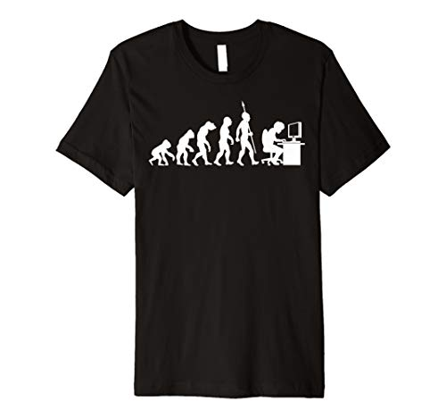 Nerd PC Game Gamer Evolution Fun T-Shirt ()