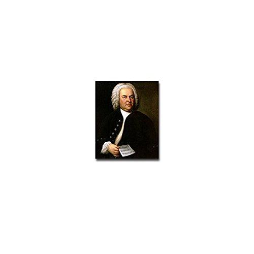 Aufkleber / Sticker -Johann Sebastian Bach Komponist Künstler Musiker Virtouse Deutschland Barock Portrait Emblem 6x7cm #A3889