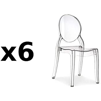 TrasparenteAmazon Sedie Set 4 Chair it Policarbonato Igloo In Di UqMVSzGLp