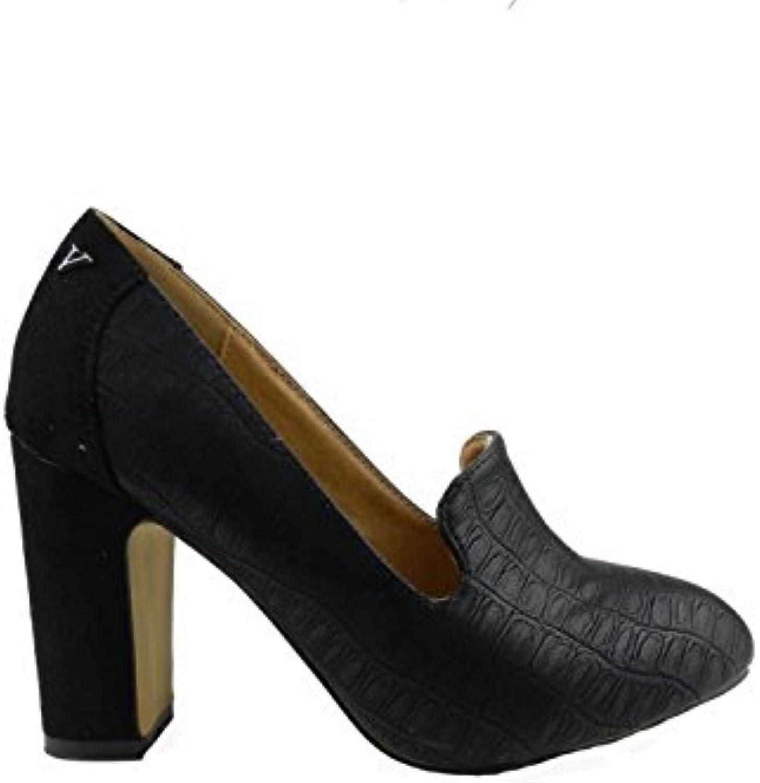 Verona - Zapato de Tacón Ancho Slipper  -