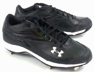 Under Armour Herren Clean Up Low ST Metal Baseball Cleats Black/White 10 -