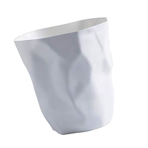 Fenteer Abfalleimer - Papierkorb für Büro, Badezimmer, Wohnzimmer - Weiß Klein
