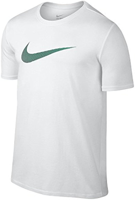 T-shirt a manica corta Nike Swoosh Athletic Nike (L, 100 Bianco   verde Lucido) | Altamente elogiato e apprezzato dal pubblico dei consumatori  | Scolaro/Signora Scarpa