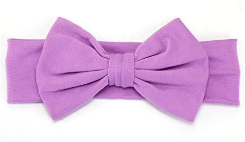 Huyizhi accessori per ragazze fascia per capelli classica classica per bambina (colore viola chiaro)