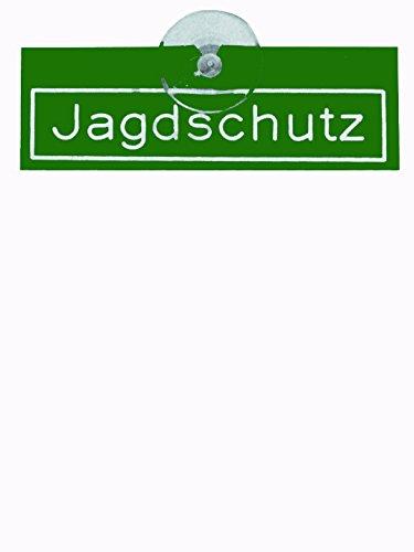 Preisvergleich Produktbild Jehn Autoschild Jagdschutz grün / weiß 15cm