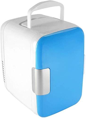 ZHENYUE Tragbare ini Frige Gefrierschrank Kühlbox Ein Warer 6 Dosen Quiet ini Kühlschrank Copact Energy Star Auto oder Roo Büro-blau 4L ZHENYUE (Color : Blue, Size : 4L)