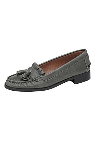 Soft Moccasin Woman Nappa Leather De Best Connections Grey