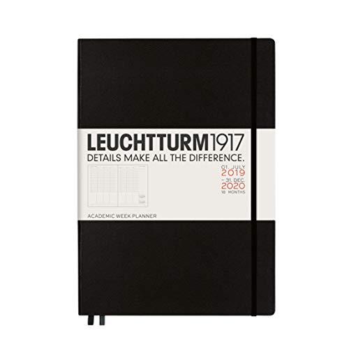 Akademischer Wochenplaner 2020 Hardcover Master (A4+), 18 Monate, Schwarz, Englisch (Monats-und Wochenplaner)